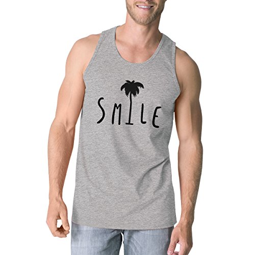 Unique Pull Printing Top Taille Palm Smile Manche Sans Tank Homme Grey 365 Tree wqY4Z4