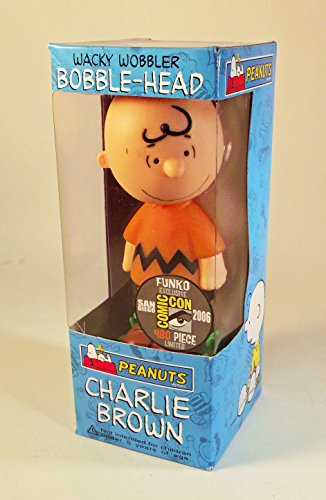 Funko Wacky Wobbler Peanuts (Classic Charlie Brown Comic Con 2006 Orange Shirt Wacky Wobbler Bobble Head by)