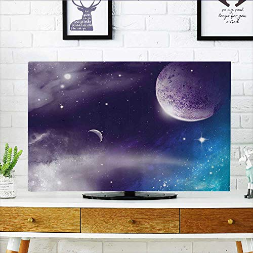 cc8b63f687a888 L-QN Cord Cover for Wall Mounted tv erse with Planand Cret Mo Starry Night