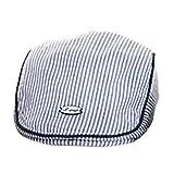 Nation Cute Baby Infant Boy Girl Stripe Beret Cap Peaked Baseball Hat Caps (Blue)