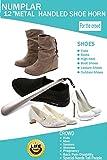 Numplar Metal Shoe Horn, Long Handled Shoehorn for