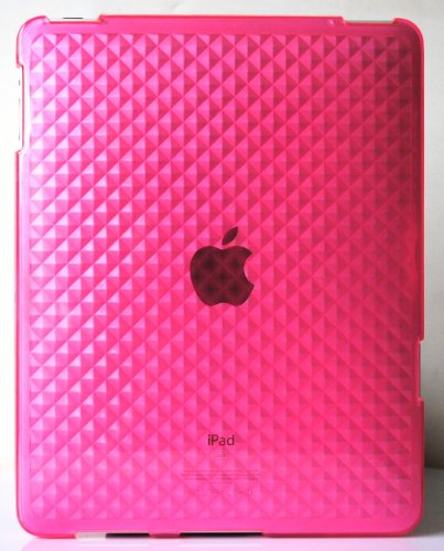 - Pink Diamond Wave Premium Crystal Candy TPU Silicone Skin Case for Apple Ipad + Precut LCD Screen Protector