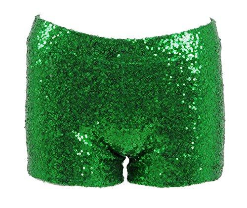 - Very Last Shop Women Sexy Hot Glitter Sequin Shorts Summer Club Wear Multi-Color (US Women-S, Emerald)