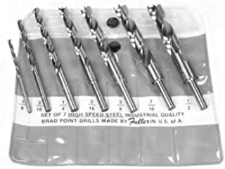 product image for Brad-Point Drill Bit Sets - Set - N 7 | SHK 1/4 | 1/8 to 1/2 by 1/16