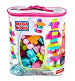 Mega Bloks First Builders Big Building Bag (Pink) (60-Piece)