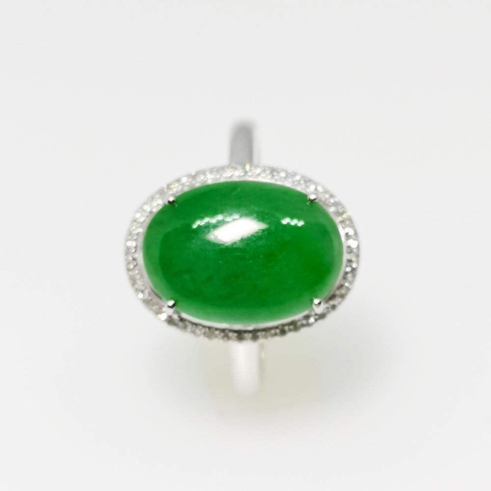 Cabochon Jade Jadeite Green Natural Genuine from Burma #1927