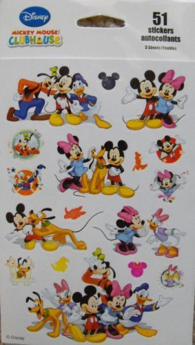 Mouse Clubhouse Sheets Mickey (Disney Mickey Mouse Clubhouse 51 Stickers by Kid Squad)