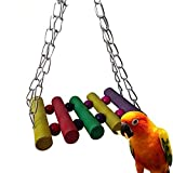 Vktech® 5pcs Pet Bird Parrot Parakeet Budgie Cockatiel Cage Hammock Swing Toy Hanging Toy (Style A)