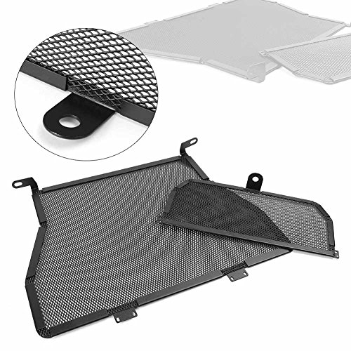 GZYF Aluminum Radiator Grill Protective Guard Cover Fits BMW S1000R 2010-2016 / S1000RR 2010-2017, Black