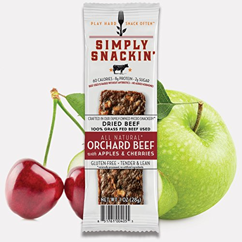 - Simply Snackin' - ORCHARD Beef with Apples & Cherries 20 SNACKS