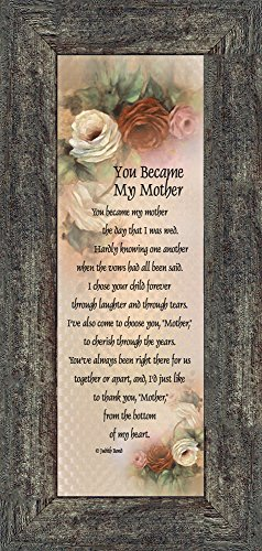 You Became My Mother, Gifts for Mother in Law, In Law Frames,...