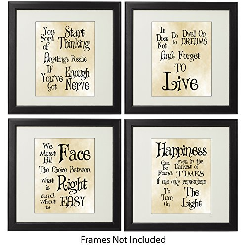 Professor Minerva Mcgonagall Costume (Harry Potter Inspired Quotes and Sayings Art Prints Wall Decor - Best Set of Four Unframed Prints (8.5x11)- Greatest Gifts For The Harry Potter Fans Of Any Age Who Love Magical Wizards And Sorcerers!)