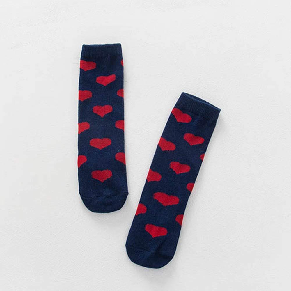 Toddler Socks Non Skid Cotton Socks Baby Boys Girls Knee High Socks 0-4 Years