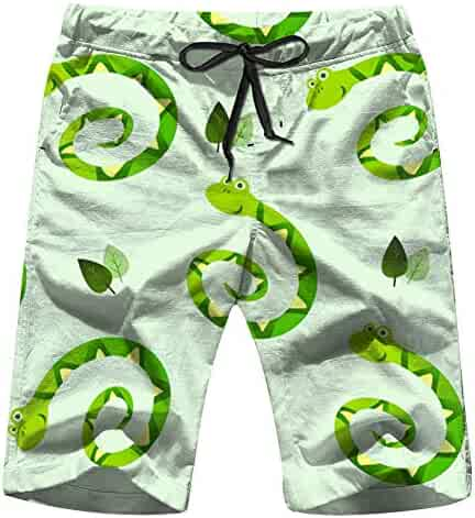 NEST-HOMER Mens Beach Shorts United States Washington Leisure 3D Printing Quick Dry Swimming Pants For Summer