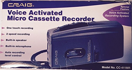 Voice Activated Micro Cassette Recorder