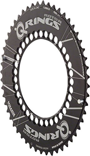 Rotor Qring 53t Aero 130 BCD Black Outer