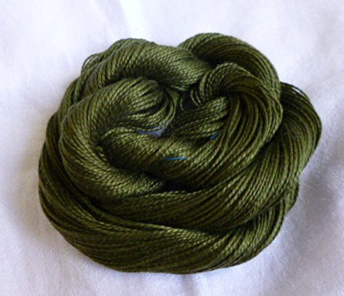 Mercerized Cotton Dark Olive Army Green Knitting Crochet Yarn Thread