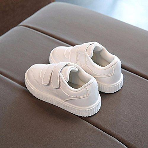 Kinder Sportschuhe Upxiang Mädchen Jungen Sport Sneaker Babyschuhe Kinder Mädchen Volltonfarbe Freizeitschuhe Weiß