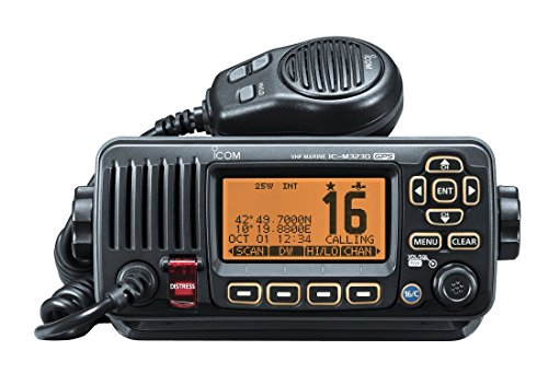 Icom Compact VHF DSC Radio with Built-In GPS - Black