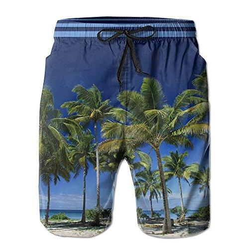 未亡人マキシム調整するヤシ 木 紳士のファッションと快適のビーチショーツ スイムショーツ メッシュインナー 通気 速乾 ビーチズボン 海水パンツ ショートパンツ