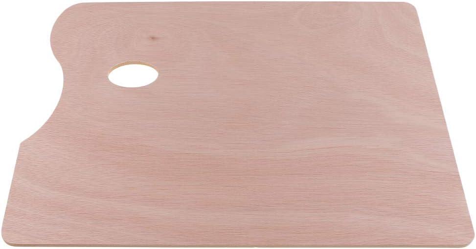 Holz Rechteck Malpalette Mischpalette Pinsel Malen K/ünstler Kunst Zubeh/ör