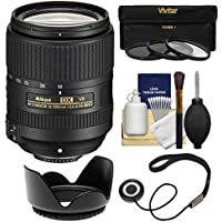 Nikon 18-300mm f/3.5-6.3G VR DX ED AF-S Nikkor-Zoom Lens with 3 UV/CPL/ND8 Filters + Hood + Kit for D3200, D3300, D5300, D5500, D7100, D7200 Cameras