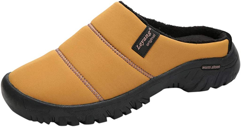 Zapatillas de Casa para Hombre Mujer Fluff Peluches Cálido Antideslizantes Impermeable Zapatos Invierno Interior al Aire Libre Fannyfuny