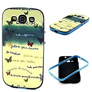 qyf 2-in-1 Believe Your Dream Phrase Pattern TPU Back Cover with PC Bumper Shockproof Soft Case for Samsung S3 I9300