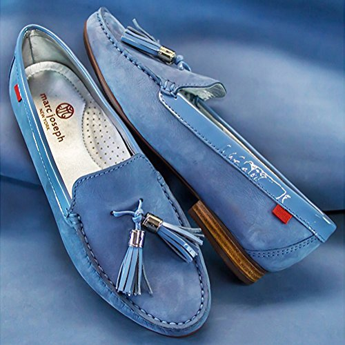 Shoes Joseph Brazil In Genuine Blue Street Marc Tassle Women's Wall Loafer NY Made Fashion Tassel Leather Vintage tROWwvtx1q