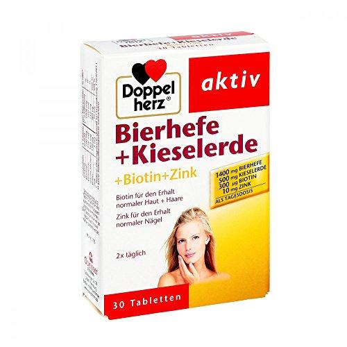 Doppelherz aktiv Bierhefe + Kieselerde + Biotin + Zink Table