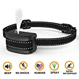 WWVVPET Spray Dog Bark Collar,[2019 Upgraded] Citronella Dog Training Collar (Not Included Citronella Spray),No Electric Shock Safe Harmless,Rechargeable Adjustable Waterproof Dogs (Black)