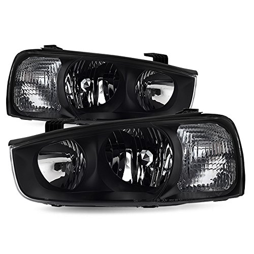 ACANII - For 2001-2003 Elantra Replacement Headlights Headlamps Front Lights Driver + Passenger Side ()