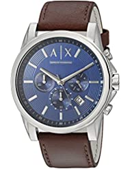 Armani Exchange Mens AX2501 Brown  Leather Watch