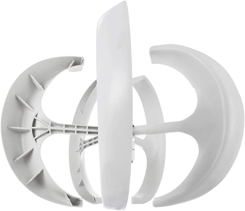 YEDENGPAO Aerogenerador 100W 24V White Lantern White Wind Generator 5 Hojas Wind Turbine Kit con Controlador De Carga para La Suplementación De Energía (400W 12V Blanco)