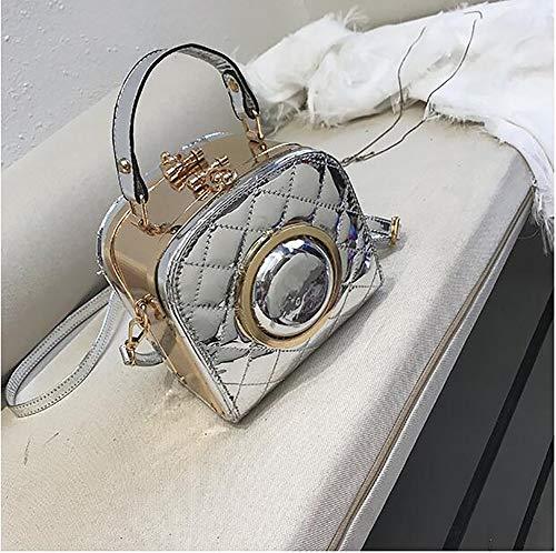 PU Shaped Snapshot Shoulder Women Bag Clutch Messenger Camera Qiulv Handbag Silver Leather Crossbody Tote qBSxtXww5