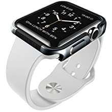X-Doria 38mm Apple Watch Case (Defense Edge) Premium Aluminum and TPU Bumper Frame (Charcoal) - Compatible with Apple Watch Series 1, Series 2, Series 3 and Nike+