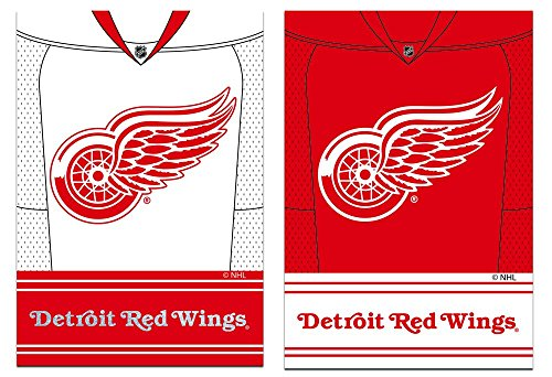 Team Sports America Detroit Red Wings Double Sided Jersey Suede Garden Flag, 12.5 x 18 inches