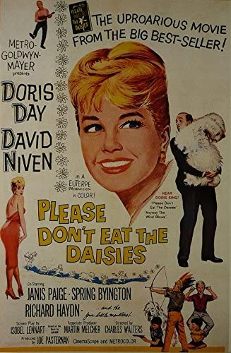 Please Don T Eat The Daisies Doris Day David Niven Movie Poster Framed Picture 11 X14 Amazon Co Uk Kitchen Home