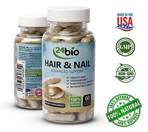 24bio Hair, Skin and Nail Supplement for Men and Women- Extra Strength and Length for Hair and Nail Multi Vitamin Complex– Hair Growth and Healthy Nails,High Potency Biotin, Vitamins A,E