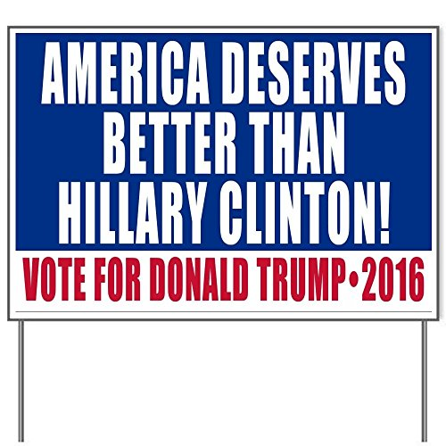 Vote Donald Trump Go America 2016 18x24' Yard Sign by Debbie's Designs