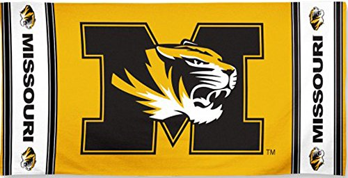 WinCraft University of Missouri Tigers NCAA 30 x 60 Inch Beach Dorm Towel