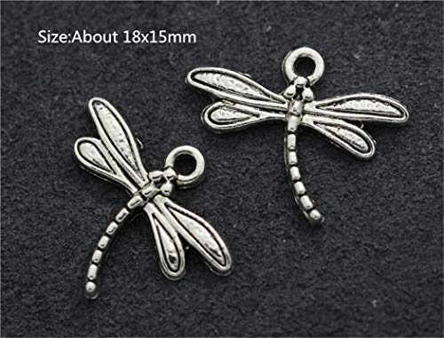 Wholesale Antique Silver Beautiful Fashion Jewelry Charms Pendant Crafts Making (Model - 20pcs Dragonfly) from Bazzano