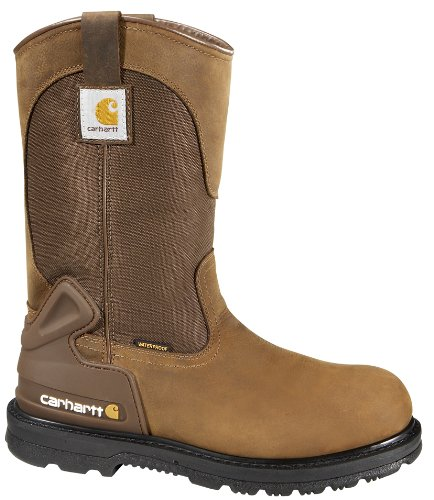 Core Steel Boot - CARHARTT Men 11-Inch Core Waterproof Steel Toe Wellington Bison Brown 10.5