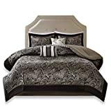 Black and White King Size Comforter Sets Comfort Spaces King Size Comforter Set - 5-Piece - Charlize King Jacquard Comforter Set - Black and Gold - King/Cal-King Size