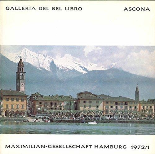 MAXIMILIAN-GESELLSCHAFT HAMBURG 1972/1