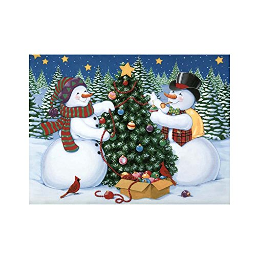 narutosak 5D Full Diamond Painting Snowman Christmas Tree Wall Decorative Handicraft Tool Kit