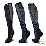 Vital Salveo Germanium Graduated Compression Socks for Men & Women Best Recovery and Circulation Stockings(20-30mmHg) for Running, Biking, Athletic Sports, Diabetic, Edema, Flight Travel-L (Pair)