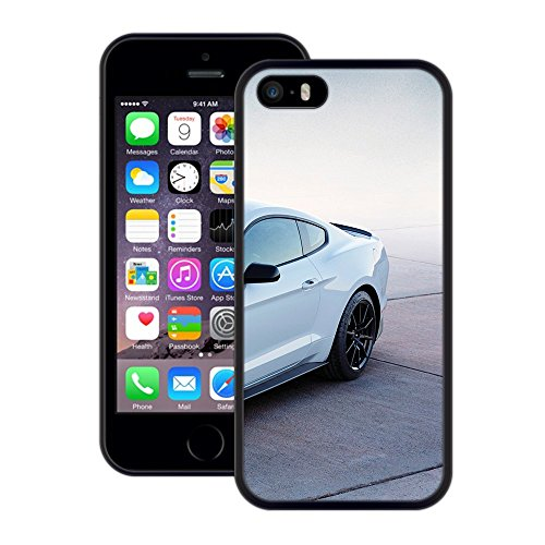 Mustang Car | Handgefertigt | iPhone 5 5s SE | Schwarze Hülle