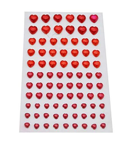 Rhinestone Stickers 216pcs Self-Adhesive Heart Shaped Bling Craft Jewels Gem Stickers Rhinestone Crystal Gemstone Stickers for Arts & Crafts DIY Decorations - Jewels Large Heart