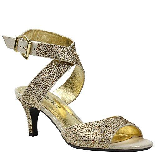 J.renee Womens Soncino Gold Rhineston